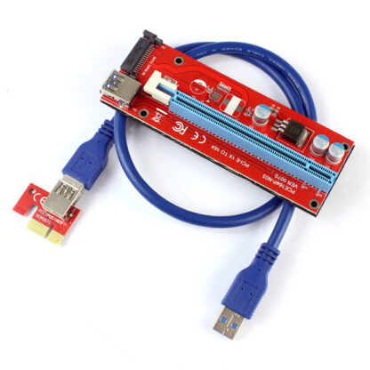 PCI Express Riser 007S Extender Card Adapter SATA